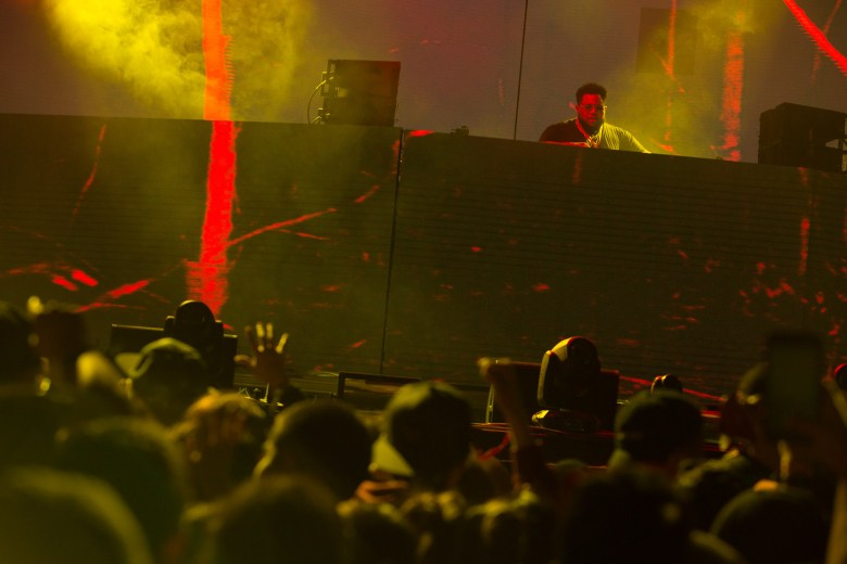 Carnage performs over a crowd of thousands at the Lone Star Stage during Mala Luna.