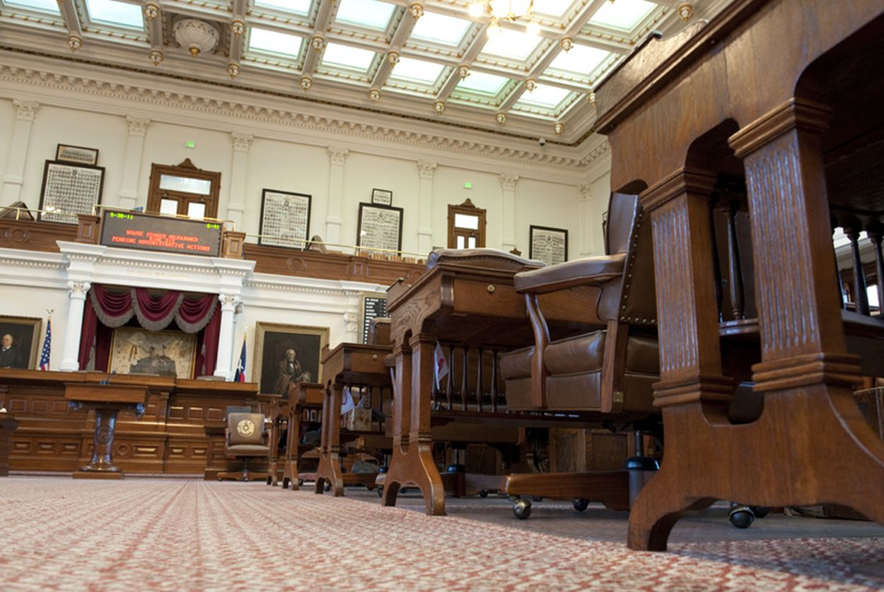 The chamber of the Texas House.