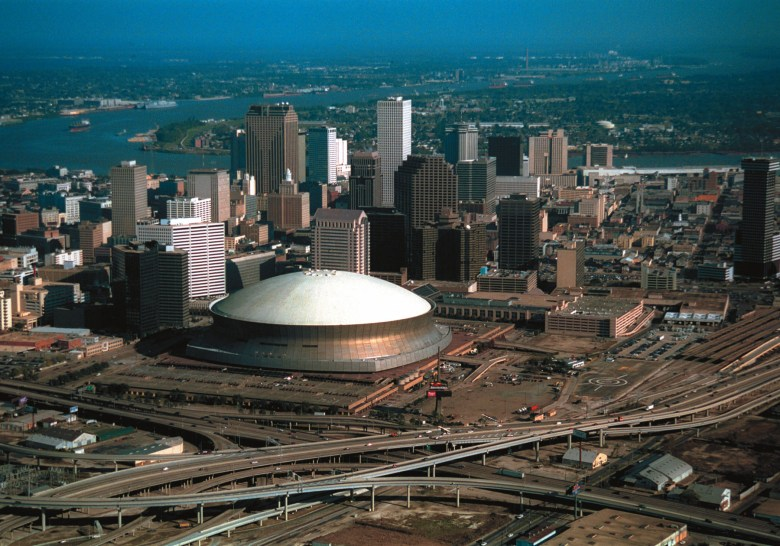 An aerial view of New Orleans.