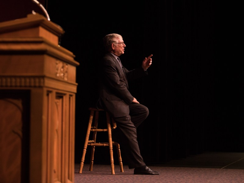 Ted Koppel speaks at Trinity University.
