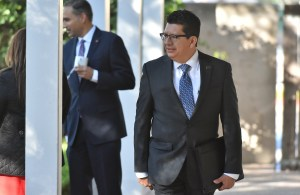 """Richard Perez, San Antonio Chamber of Commerce president and CEO, arrives for the U.S. Senate subcommittee hearing """"Modernization of the North American Free Trade Agreement"""" Monday in San Antonio."""