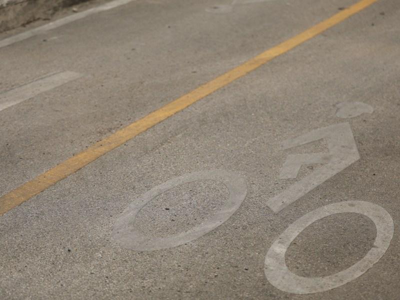 Bike lanes along Avenue B near downtown San Antonio.