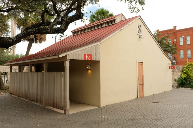 The restroom building built in 1982 is to be removed.