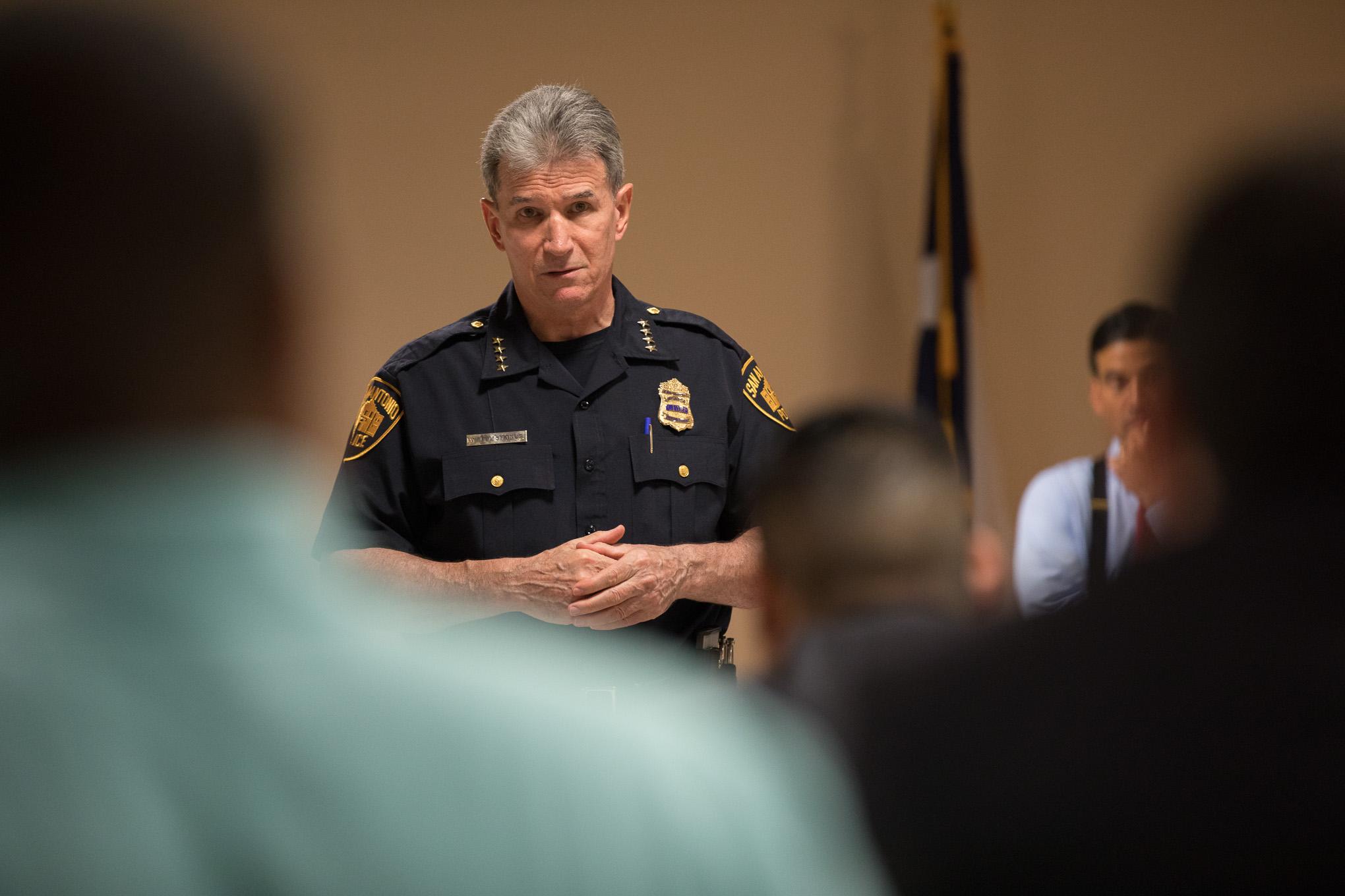 San Antonio Police Chief William McManus