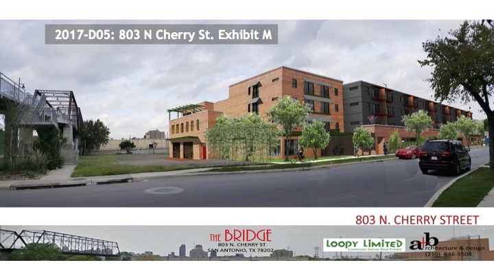 """This rendering shows the height of Hays Street Bridge in relations to the proposed """"The Bridge"""" mixed use development, 65 feet away."""