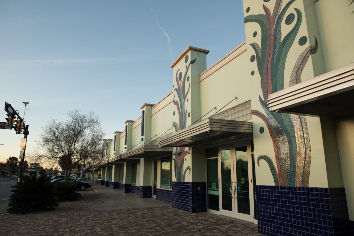 The historic building at 1800 Fredericksburg Rd. in the Deco District