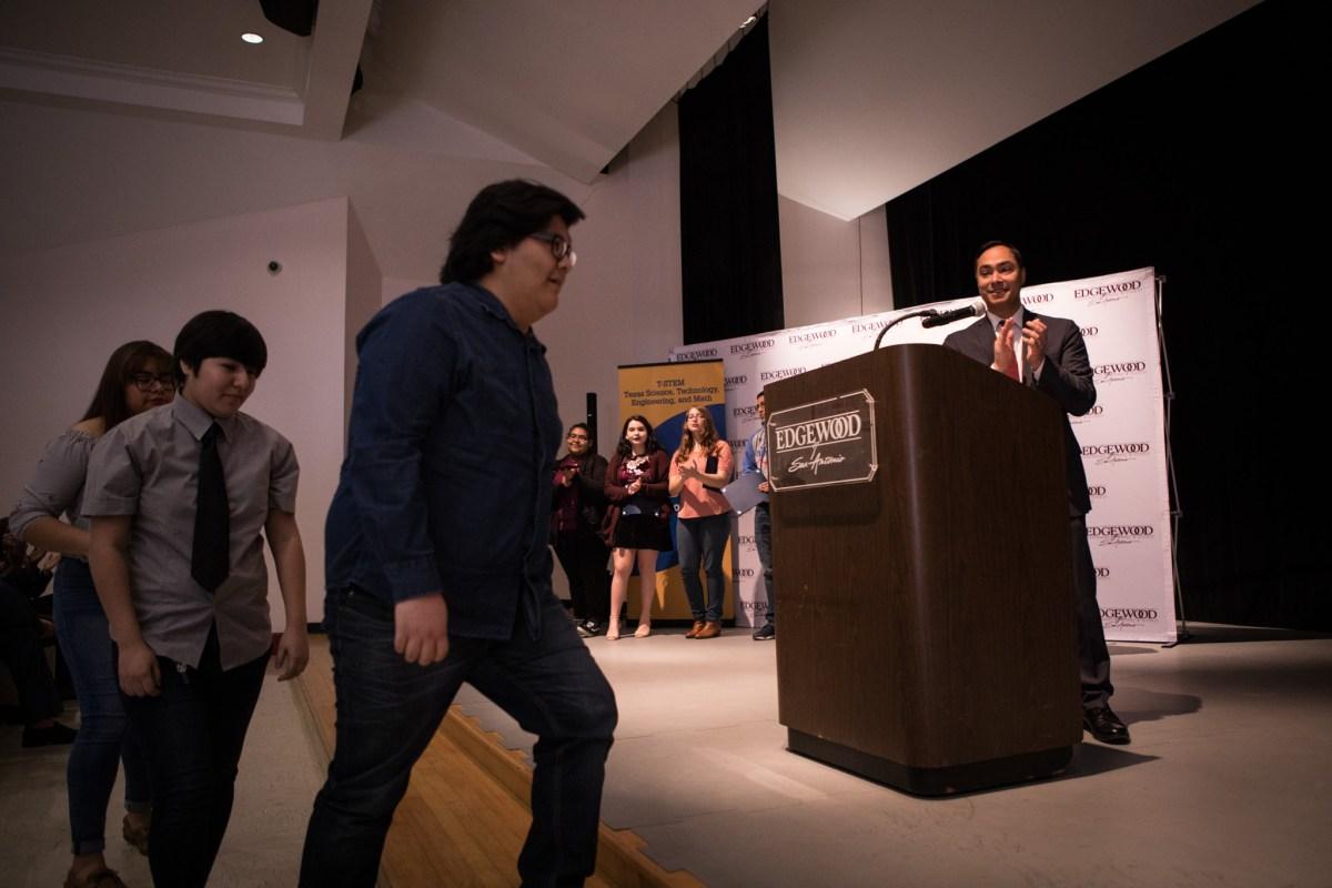 Congressman Joaquin Castro (TX-20) recognizes winners of the Congressional App Challenge.