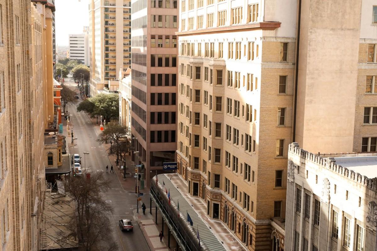 Houston Street runs through the heart of downtown San Antonio.