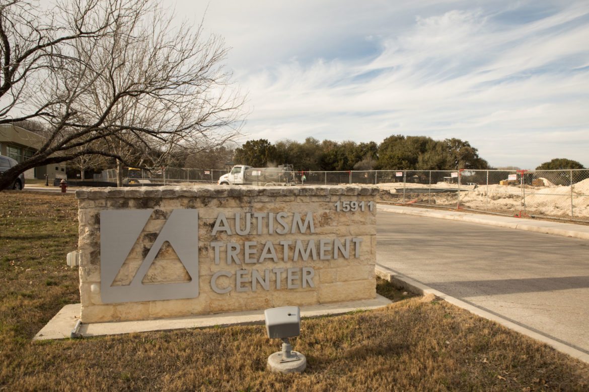 The construction on the Autism Treatment Center can be seen to the right of the original site.