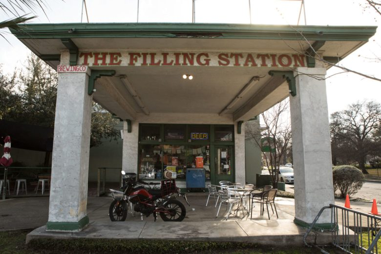 The Filling Station Tap Room, located at 701 S. St. Mary's St., was once a gas station.