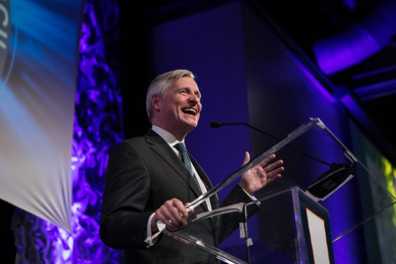 Pulitzer Prize-winning author Jon Meacham presents the keynote speech at the International Citizen of the Year Award Dinner hosted by the World Affairs Council of San Antonio at the Witte Museum.