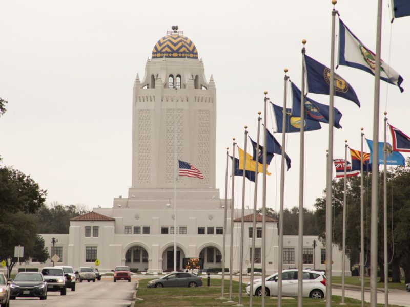 "Building 100 or ""The Taj Mahal"" at Joint Base San Antonio-Randolph."