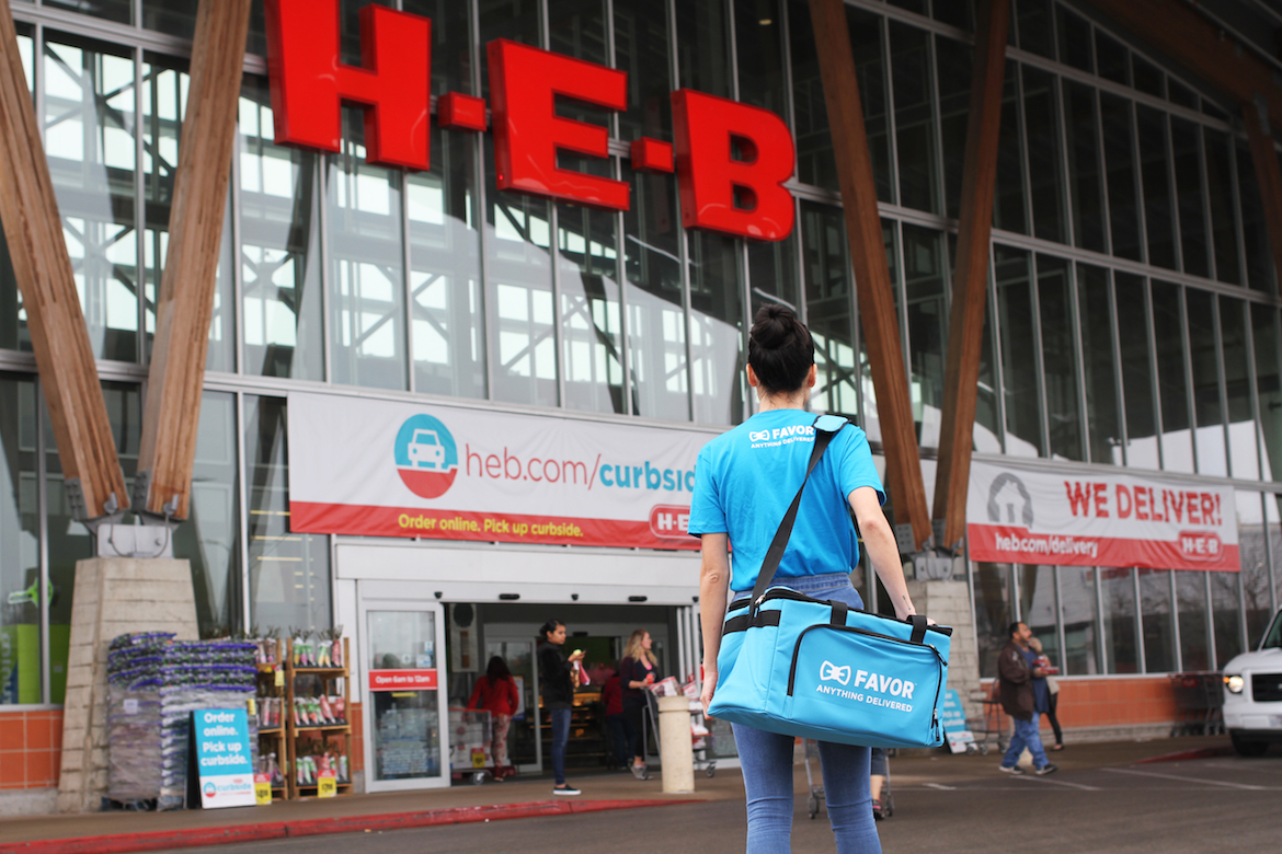 H-E-B and Favor have partnered to bring deliverable groceries to Texas.