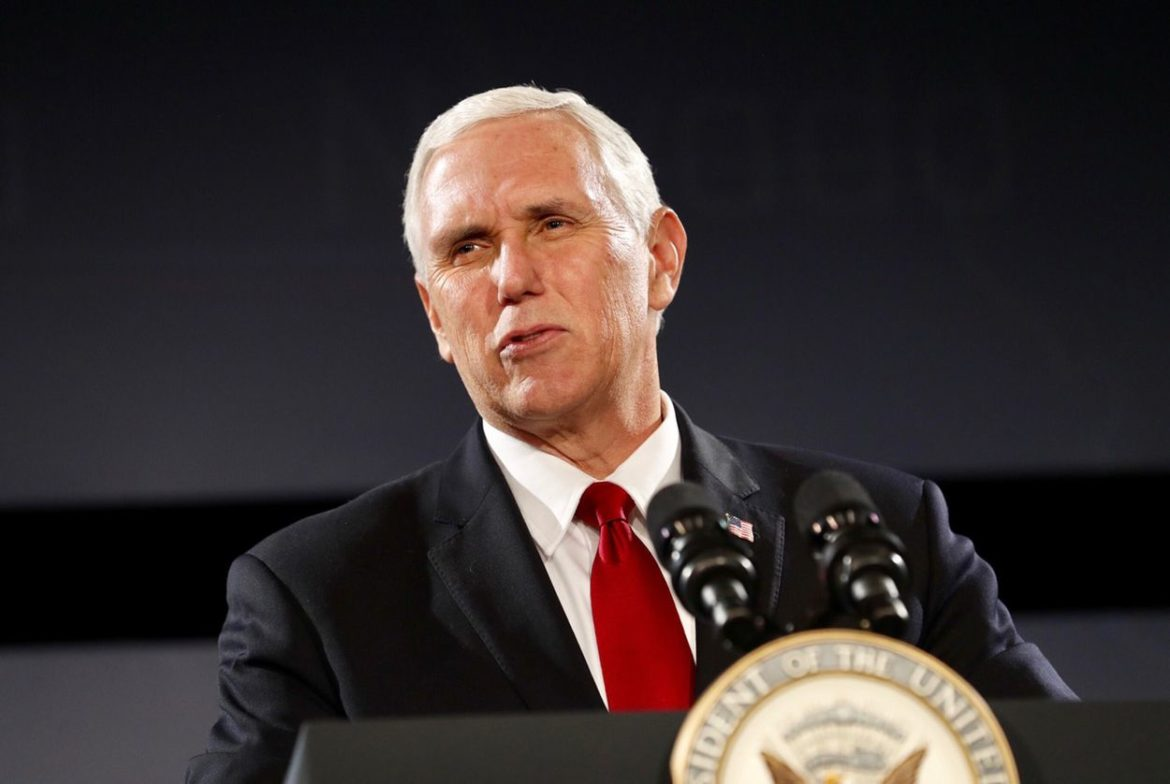 Vice President Mike Pence addresses the Republican Governors Association at a meeting in Austin on Wednesday, Nov. 15, 2017.