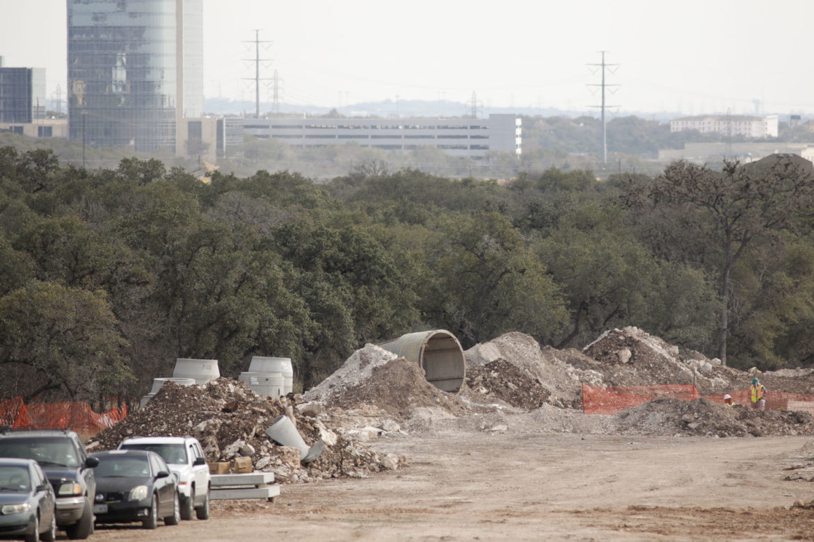 A portion of the Vista Ridge project site in the Northside of San Antonio.