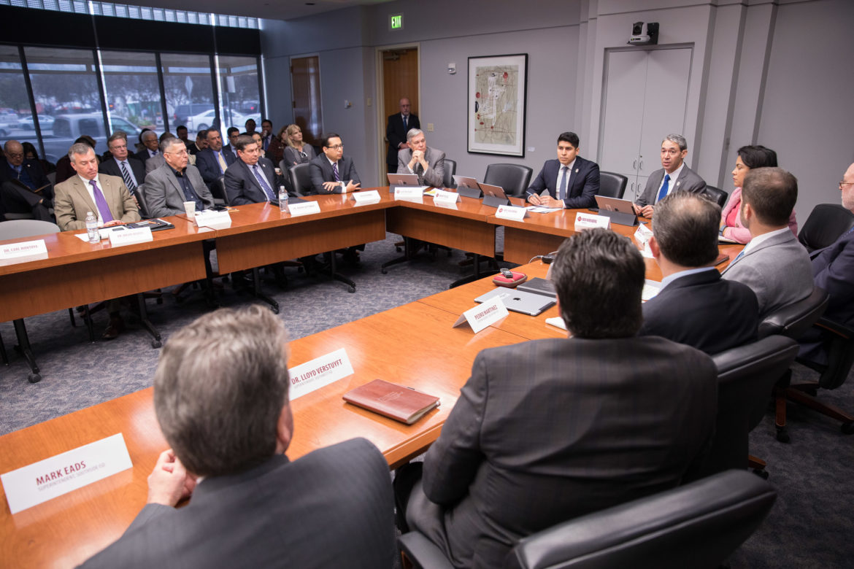 The governance meeting led by Councilman Rey Saldaña (D4).