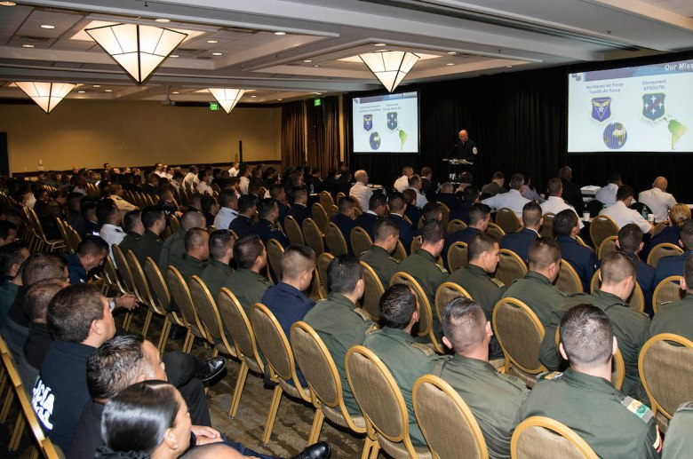 More than 400 military members from all over the world attend IAAFA's Western Hemisphere Exchange Symposium.