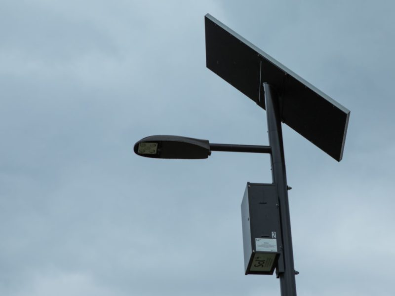 Cassiano Homes has 12 solar light poles which would be used to power the Wi-Fi mesh network.