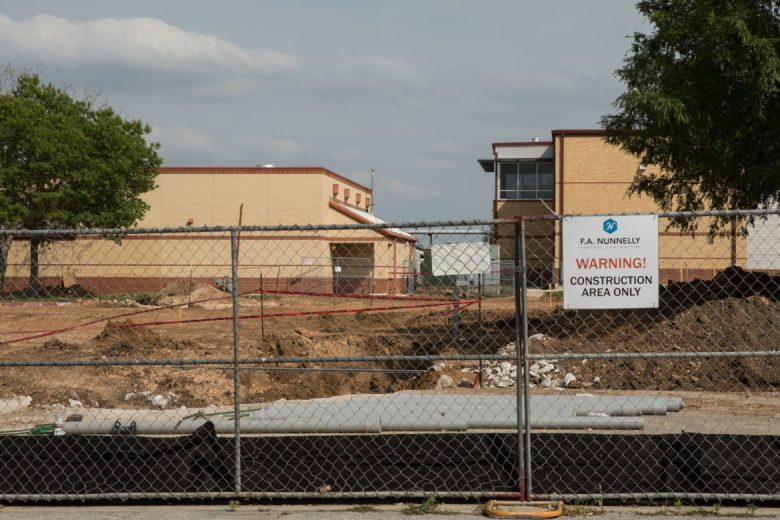 Construction takes place next to Southside Independent School District Losoya Intermediate.