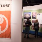 The ¡Viva Hemisfair! exhibit is displayed at the Institute of Texan Cultures.