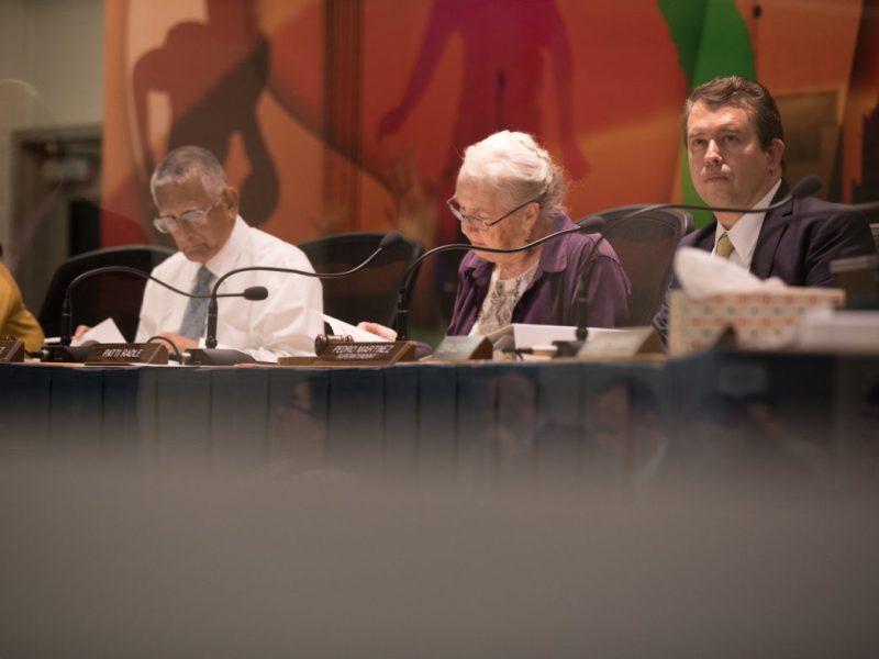 The San Antonio Independent School District Board of Trustees.