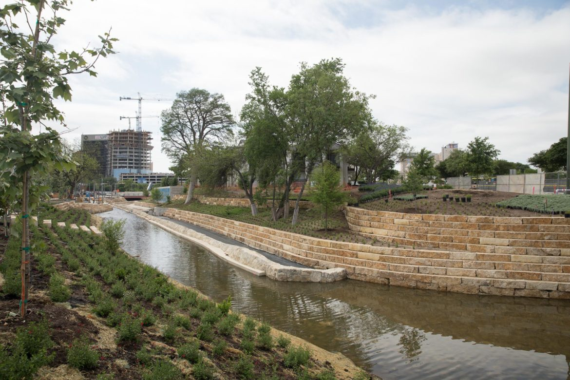 The San Pedro Creek Culture Park is set to open to the public on May 5, 2018.
