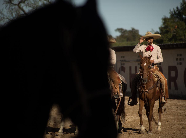 Luis Parra Villanueva rides Bloodbuzz in their first charreada together.