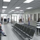 This rendering shows the public entrance of Bexar County's Justice Intake Center.