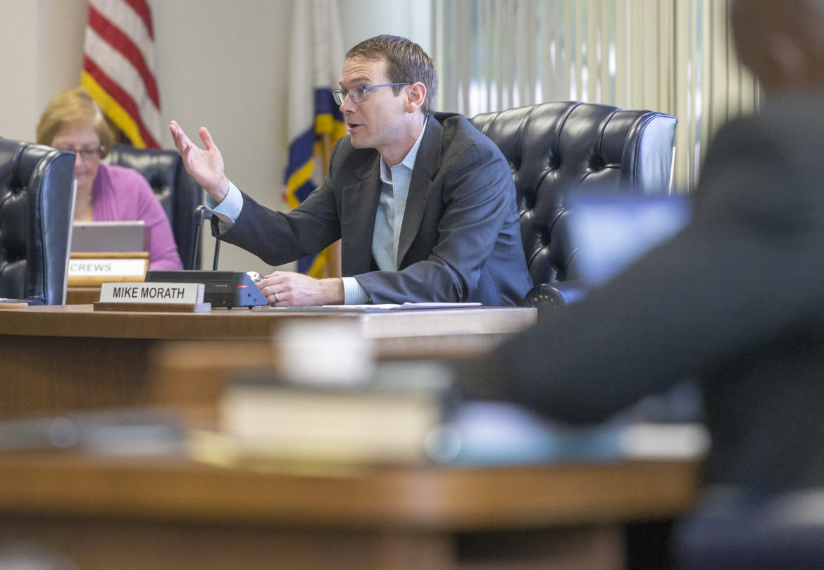 Texas Commissioner of Education Mike Morath speaks during a Texas State Board of Education meeting in April.