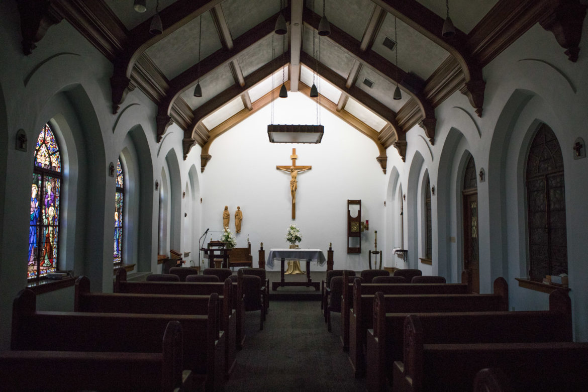 The chapel in Central Catholic High School.