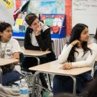 South San High School students brainstorm ways to improve the mental health resources in their school.