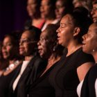"""Mt. Zion First Baptist Church mass choir performs the song """"Hallelujah: You're Worthy."""""""