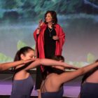 """Carmen Tafolla delivers """"This River Here"""" as an interpretive dance is performed by San Antonio Dance Umbrella."""