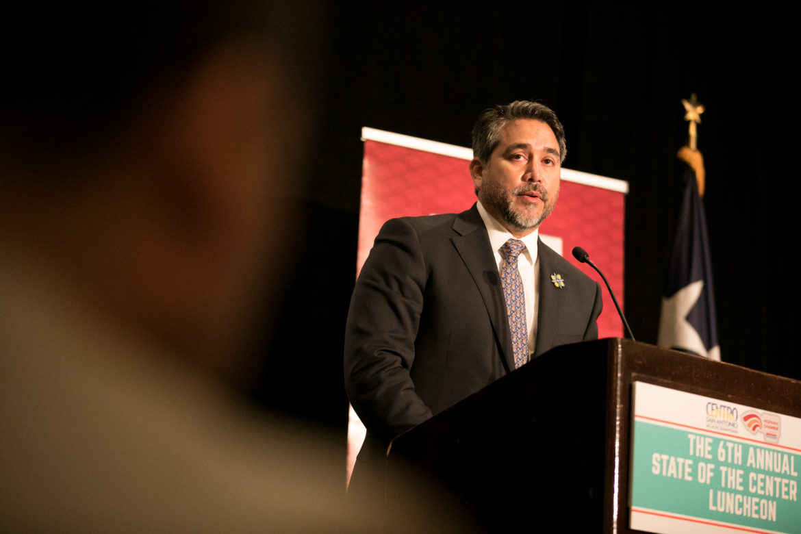 Councilman Roberto Treviño (D1) gives his annual State of the Center City address.
