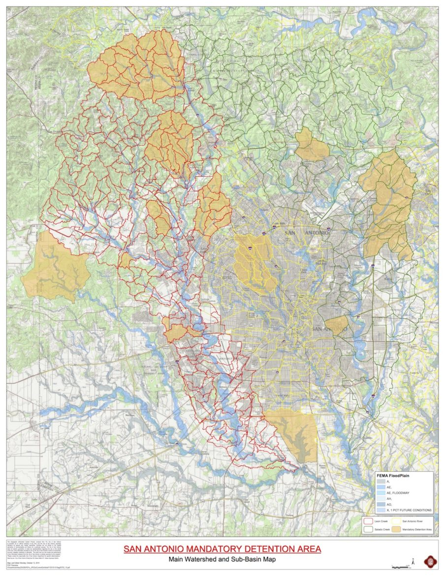 In the areas shaded in yellow above, fee-in-lieu-of impervious cover mitigation is not accepted.