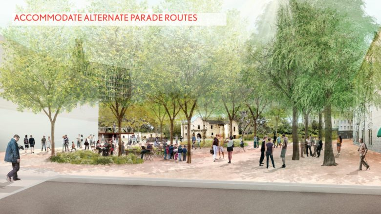 This rendering shows the view of the Plaza de Valero from the perspective of Losoya Street.