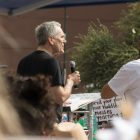 U.S. Rep. Lloyd Doggett (D-Texas) gives a speech to the crowd.