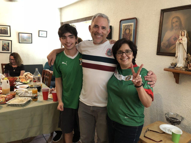 (From left) Philip True Jr.; Robert Rivard, Rivard Report Director; and Martha True in Matamoros, Mexico on June 23.
