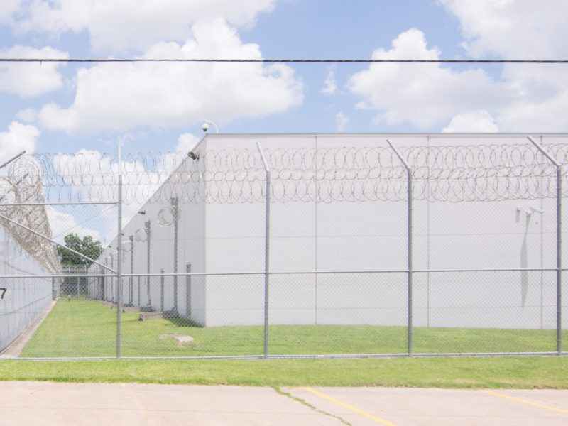 The Houston Contract Detention Facility, an immigration detention facility, is located at 15850 Export Plaza Dr. in Houston, Texas.