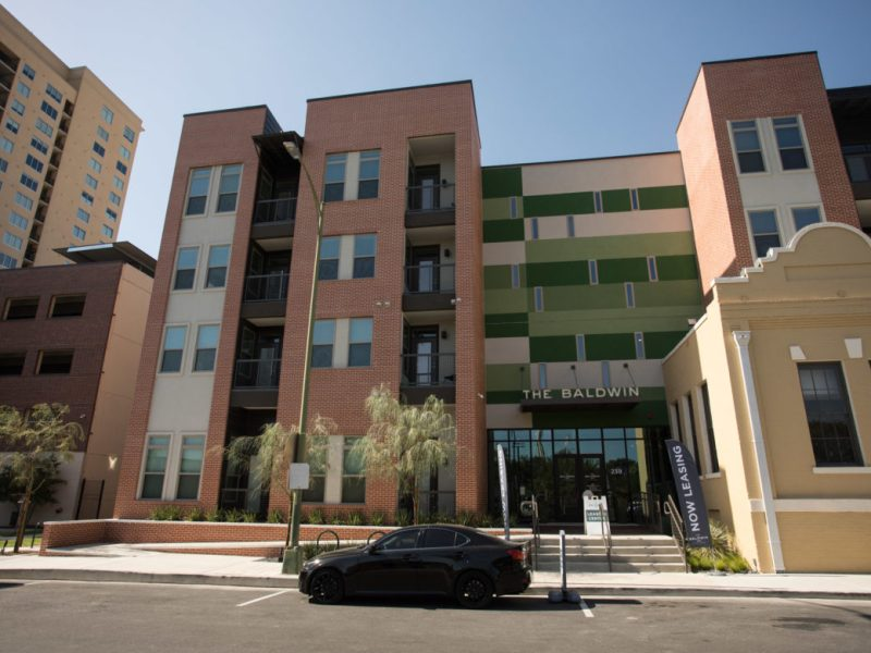 The Baldwin at St. Paul Square Apartments is located at 239 Center St.