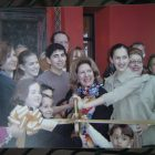 Viola Barrios (center) smiles at the ribbon cutting of the Barrios family's second restaurant La Hacienda de Los Barrios.