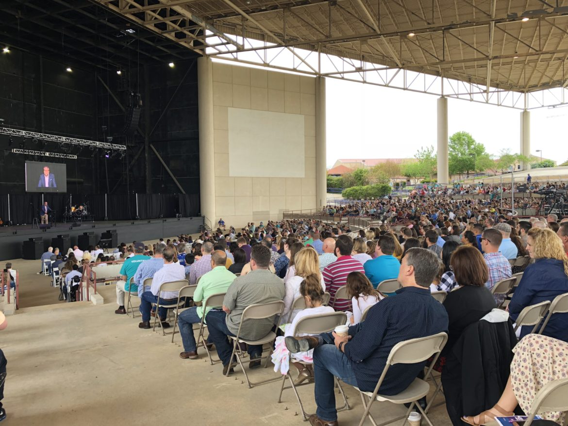 The River City Community Church holds a special sermon on Easter Sunday at the former Verizon Wireless Amphitheatre.