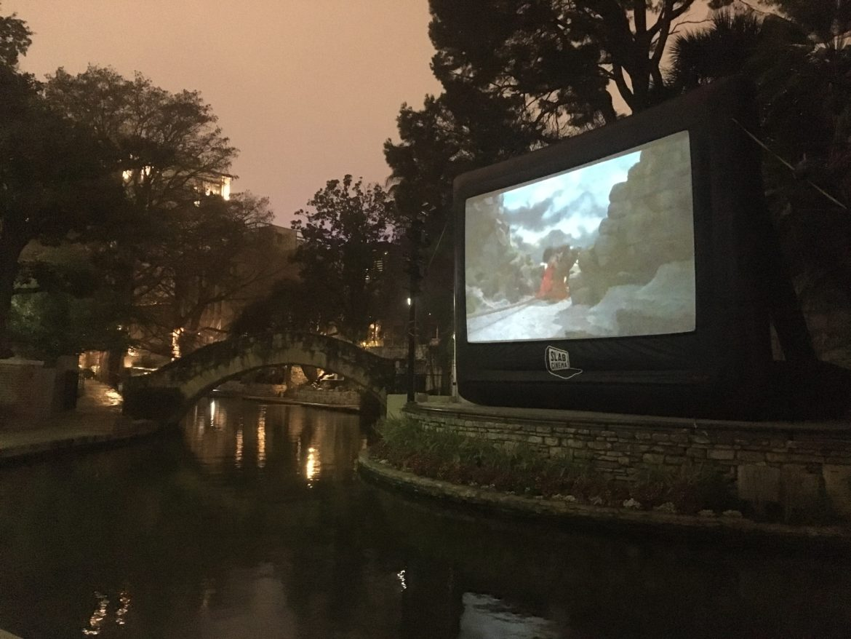 Slab Cinema screens a movie at Arneson River Theatre.