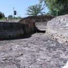 A pool at San Pedro Springs Park often filled with water flowing up from the Edwards Aquifer has dried up.