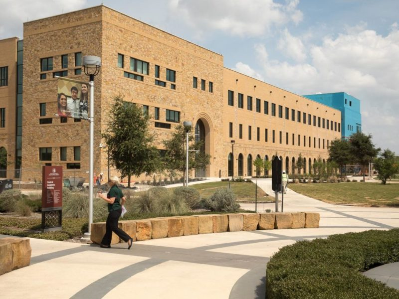The Texas A&M University at San Antonio's newly constructed Science and Technology Building.