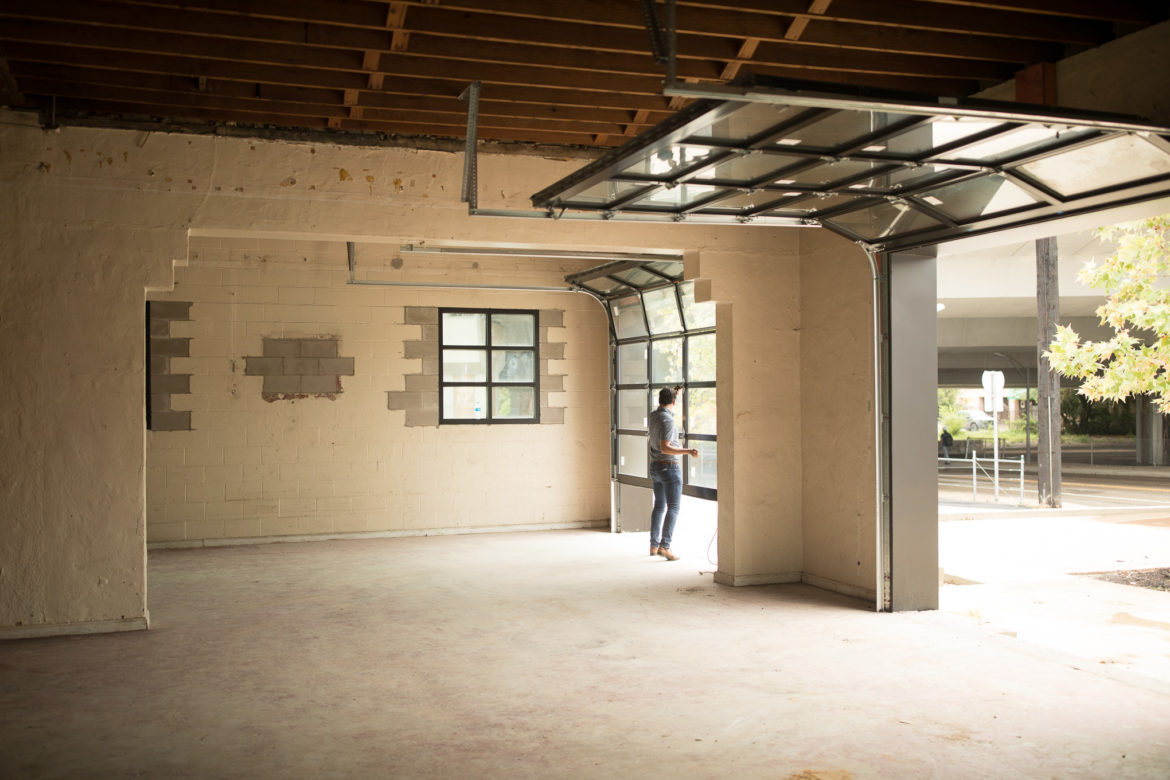 The interior of the future restaurant by Granary 'Cue & Brew Chef Tim Rattray.