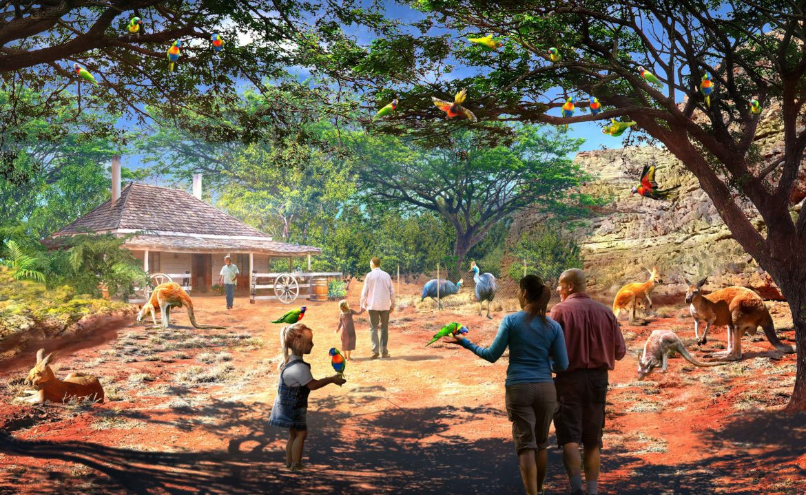"""This conceptual rendering shows """"The Bush Trail"""" at the San Antonio Zoo."""
