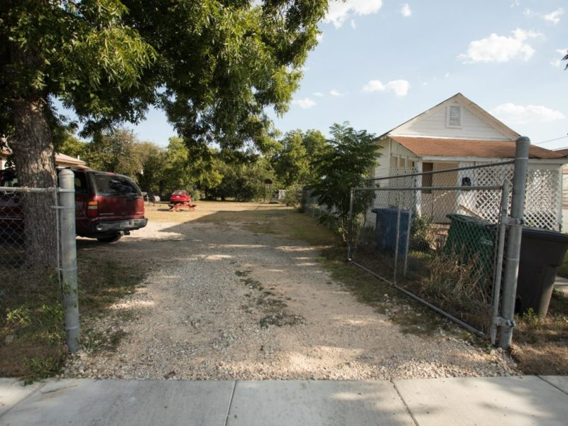 Troy Turner, owner ofMax Developers, plans to construct a 300-square-foot house on this vacant lot in Dignowity Hill.