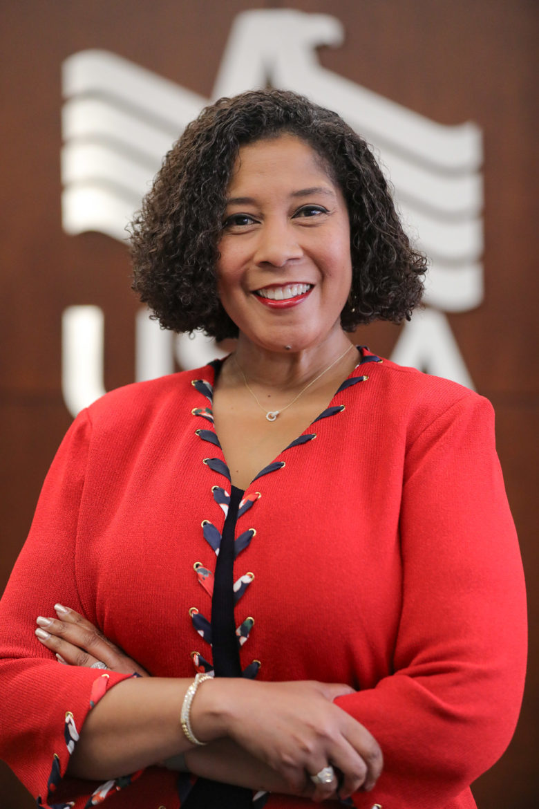 Harriet Dominique, USAA Senior Vice President of Corporate Responsibility and Community Affairs.