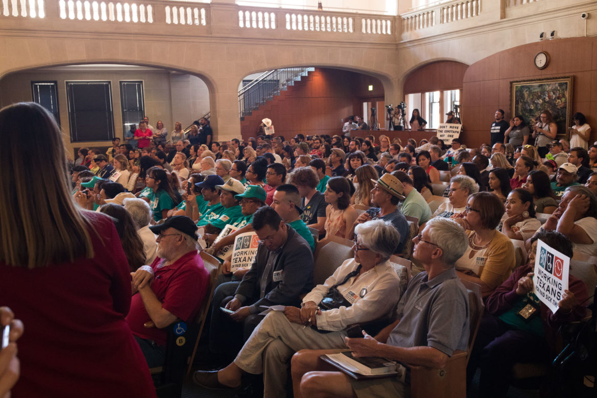 Nearly 300 people filled the San Antonio Council chambers on Wednesday evening for the community input meeting.